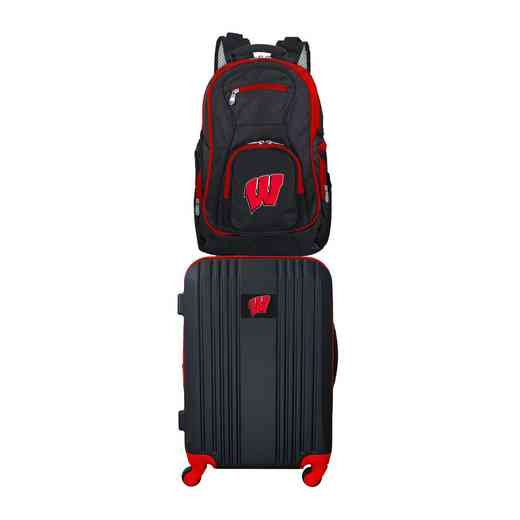 CLWIL108: NCAA Wisconsin Badgers 2 PC ST Luggage / Backpack